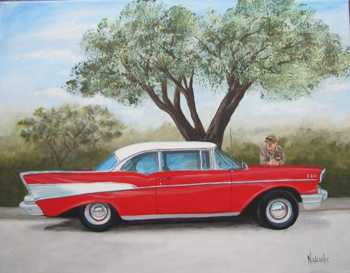 Alvin Botts 57 Chevy Acrylic on Canvas