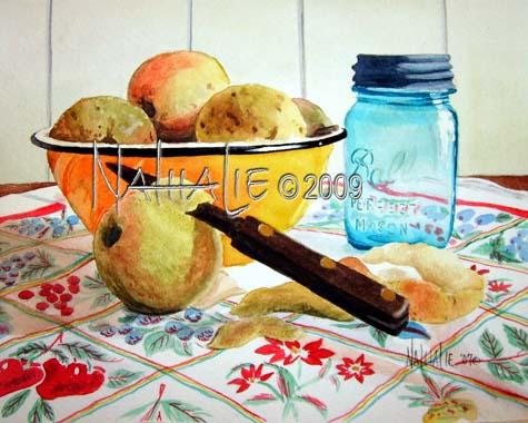 Canning Season - Watercolor by Nathalie Kelley