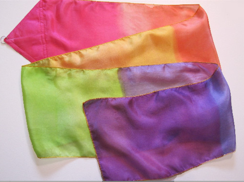 Covenant Rainbow Silk Streamer for Worship