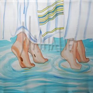 Dance With Me Hand Painted Silk Flag for Worship and dance