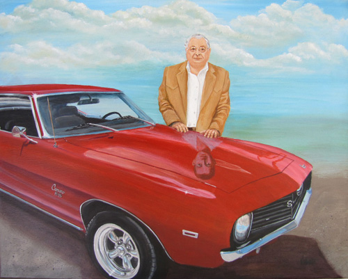 Jim and His Camero - Commission Private Collection