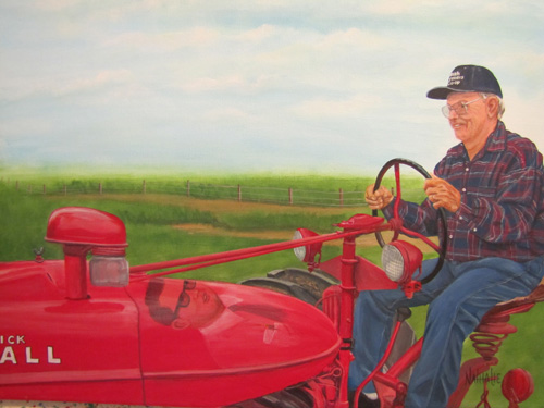Leon and His tractor - Commission Private Collection