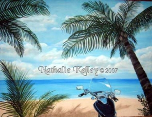 McIlroy's Motorcycle Dream Vacation - Commission Private Collection by Nathalie Kelley