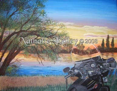 Rich's Motorcycle - Commission Private Collection by Nathalie Kelley