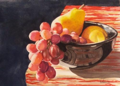 Sun Kissed Fruit Watercolor by Nathalie Kelley